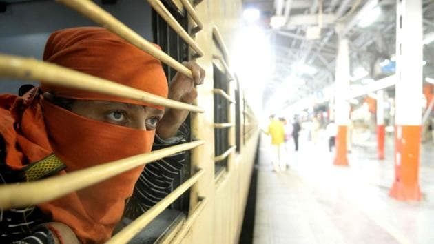 The BJP leader further clarified that for each 'Shramik Express', special trains being run for migrants, about 1,200 tickets to the destination are handed over by the Railways to the state government concerned.(DEEPAK GAUPTA/HT PHOTO.)