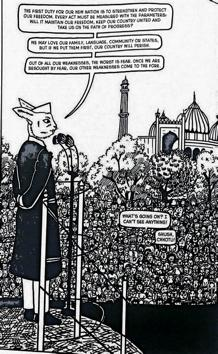 A striking panel from the graphic novel.(Chhotu; A Tale of Partition and Love by Varud Gupta and Ayushi Rastogi)