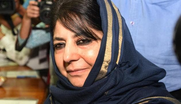 Mehbooba Mufti was initially detained on August 5 last year when the Centre abrogated special status of the erstwhile state and bifurcated it into two union territories -- Ladakh, and Jammu and Kashmir.(Sonu Mehta/HT PHOTO)