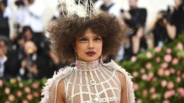 """Priyanka Chopra at The Metropolitan Museum of Art's Costume Institute benefit gala celebrating the opening of the """"Camp: Notes on Fashion"""" exhibition on Monday, May 6, 2019, in New York.(AP)"""