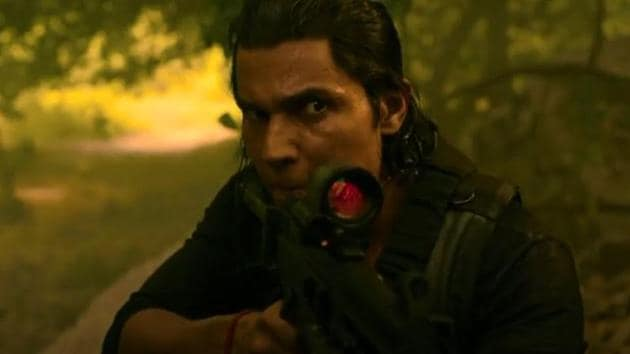 Randeep Hooda in a still from Netflix's Extraction.