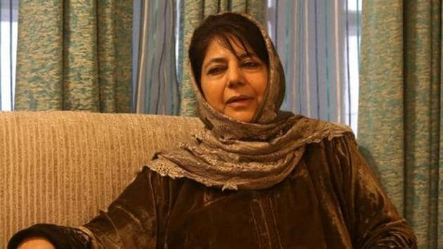 Former Jammu and Kashmir chief minister Mehbooba Mufti is lodged at her official residence which has been converted into a subsidiary jail(Reuters File Photo)