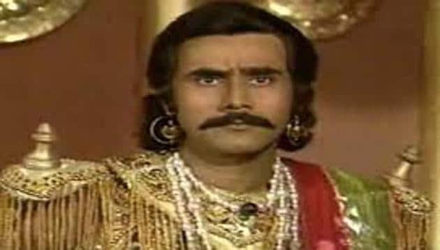 Puneet Issar as Duryodhan in a still from Mahabharat.
