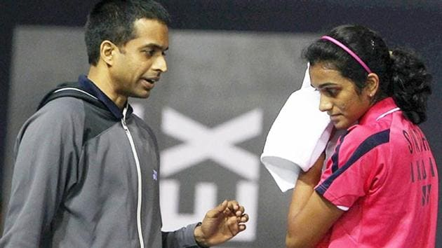 File image of Gopichand with PV Sindhu.(Fiile)