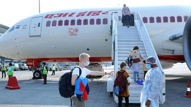 Air India will operate 64 flights this week to bring back stranded Indians in the wake of Covid-19 as part of the Vande Bharat mission.(ANI Photo)