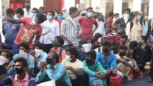 Indicating that there are jobs, the government said it has resumed these activities to also safeguard the migrant population.(Bachchan Kumar/HT file photo)