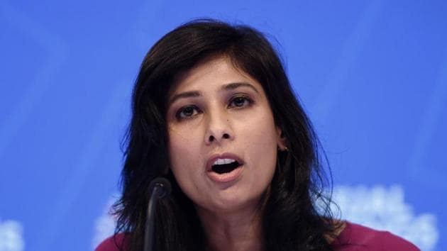 IMF Chief Economist and Director of the Research Department, Gita Gopinath said, baseline scenario assumed that the pandemic fades in the second half of this year and that containment measures can be gradually wound down, a scenario that looks less likely now.(AFP)