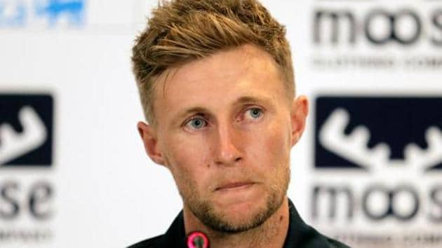 England cricket captain Joe Root looks on during a news conference.(REUTERS)