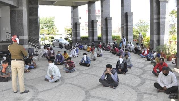 As many as 231 people were arrested for roaming around in the open.(HT File Photo)