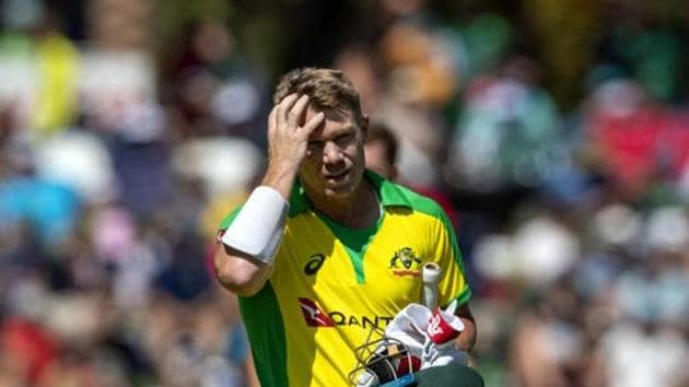 Australia batsman David Warner feels it will be tough for the T20 World Cup to be conducted(AP)