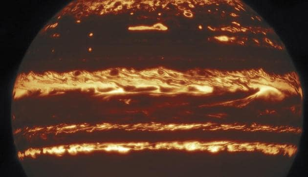 The images of Jupiter obtained from Gemini North Telescope 'rival the view from space', according to lead researcher Michael Wong.(Photo Credit: International Gemini Observatory / NOIR Lab / NSF/ Aura MH Wong (UC Berkeley))