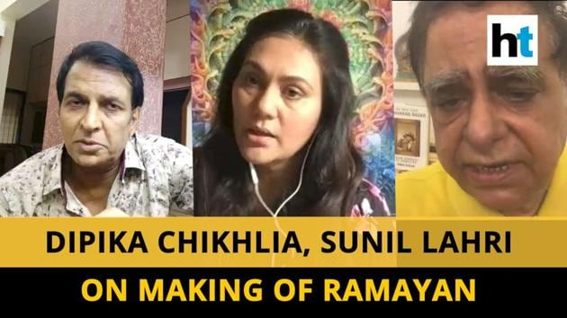 Ramayan actors Dipika Chikhlia and Sunil Lahri, known for playing Sita and Lakshman respectively, told Hindustan Times' Ruchi Kaushal about the making of the show. Director Ramanand Sagar's son Prem Sagar also joined them in sharing some lesser known facts about the shoot.