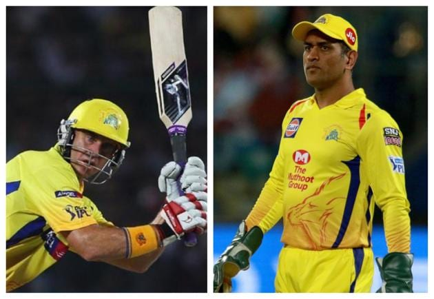 File image of Matthew Hayden and MS Dhoni.(IPL)