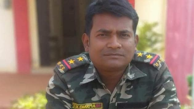Chhattisgarh police sub-inspector SK Sharma died in the Pardhoni Maoist operation.(SOURCED)