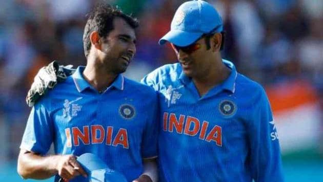 Mohammed Shami with MS Dhoni(Twitter)