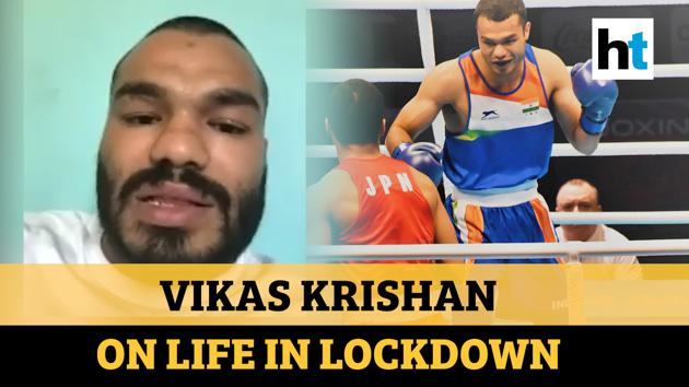 India boxer Vikas Krishan spoke to Hindustan Times' Karan Prashant Saxena about his routine amid covid-19 lockdown. Vikas revealed that despite the lack of resources he hasn't stopped his training. He said that he has been shadow boxing in front of the mirror and making use of whatever is at his disposal. Vikas has also been teaching boxing and chess to his parents amid lockdown. Watch full the video for more.