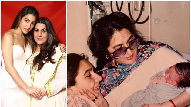 Sara Ali Khan shares a picture of her mother Amrita Singh and grandmother Rukhsana Sultana.