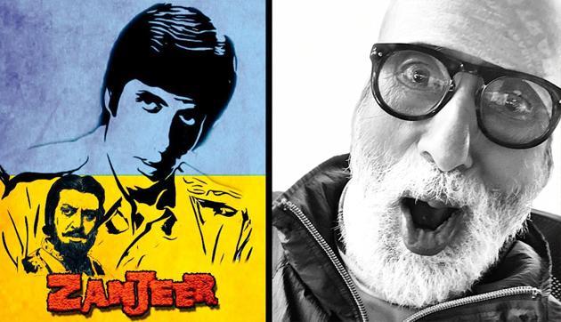 Amitabh Bachchan shared a fan art to mark 47 years of Zanjeer.