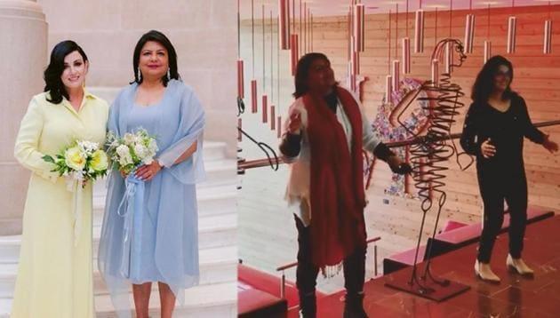 Priyanka Chopra's mom Madhu and Nick Jonas' mom feature in the fun video.