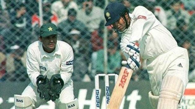 Sachin Tendulkar against Pakistan in 1999(Twitter)