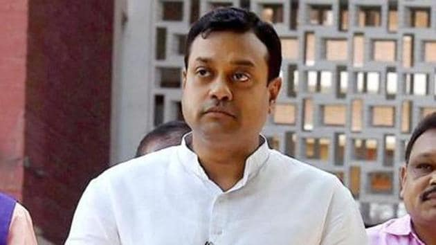 Sambit Patra has been accused of using derogatory language against the former PMs that could incite any class or community of person to commit any offence against any other class or community.(PTI)