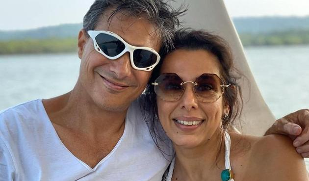 Pooja Bedi and Maneck Contractor.