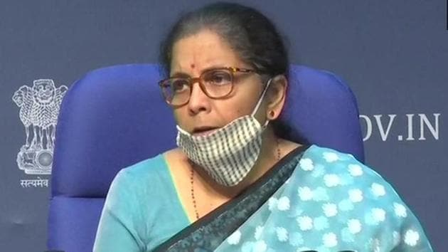 Finance minister Nirmala Sitharaman(Screengrab)