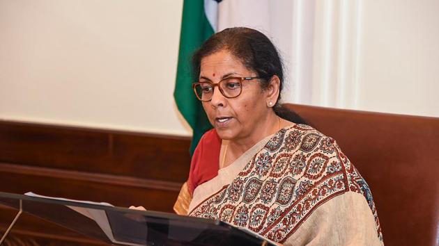 File photo: Finance Minister Nirmala Sitharaman.(PTI)