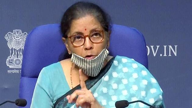 Union finance minister Nirmala Sitharaman announced an economic package on Wednesday(ANI Photo)