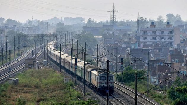 The New Delhi-Dibrugarh special train leaves the New Delhi Railway Station for its destination following the resumption of passenger train services by the Indian Railways, during the ongoing COVID-19 lockdown, in New Delhi.(PTI)