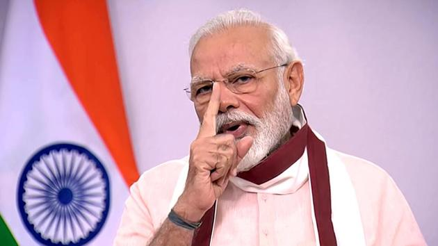 Prime Minister Narendra Modi during his addresses to the nation on Tuesday.(ANI File Photo)