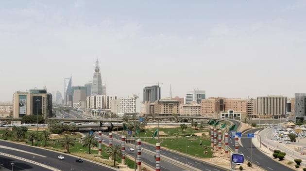 A general view shows almost empty streets, during a lockdown imposed to counter the coronavirus disease outbreak in Riyadh, Saudi Arabia.(REUTERS)