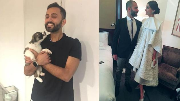 Sonam Kapoor has shared a few pictures of husband Anand Ahuja along with a note.