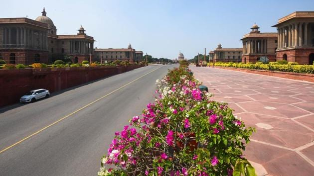 No new construction work will be sanctioned in Rashtrapati Bhavan, the world's second-largest presidential estate in the next one year.(Amal KS/HT file photo)