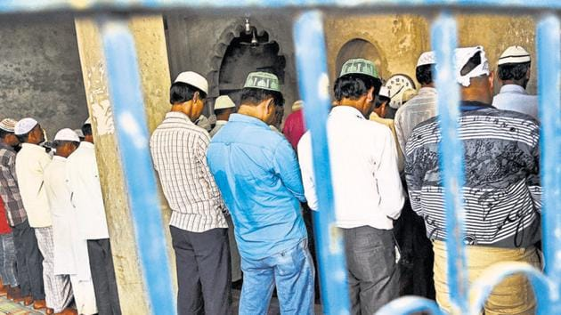The state government contended that religious activity by any group using loudspeakers had been restricted across Uttar Pradesh in view of the guidelines for the nationwide Covid-19 lockdown.(Photo by Burhaan Kinu / Hindustan Times)