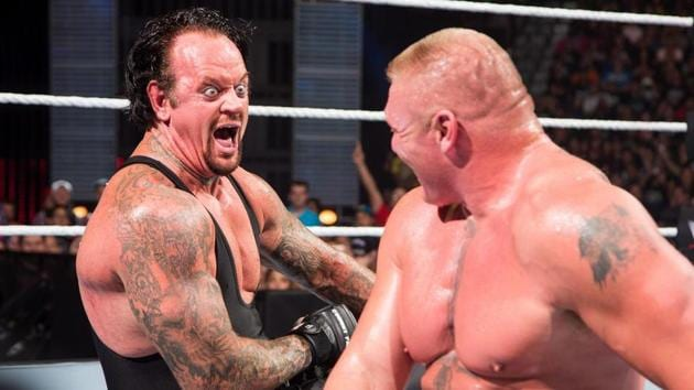 The Undertaker against Brock Lesnar.(WWE)