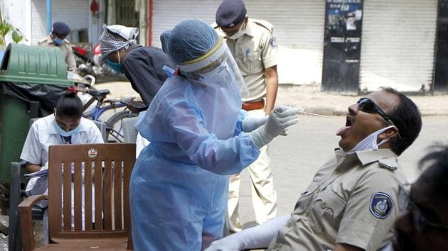 On May 1, there were 4,721 Covid-19 cases in the state of Gujarat.(ANI file photo)