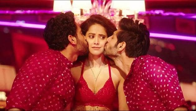 Nushrat Bharucha in a still from her song Chhote Chhote Peg.