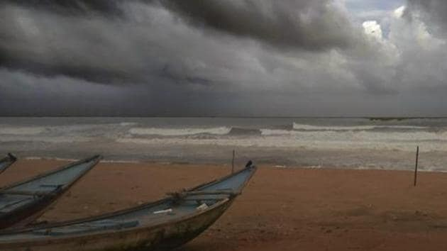IMD regional director HR Biswas said the very severe cyclonic storm Amphan is likely to intensify further into an extremely severe cyclonic storm during the next 24 hours and move nearly northwards slowly during the next 12 hours.(PTI PHOTO.)