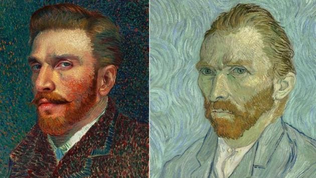 Actor Ranveer Singh on Tuesday took inspiration from Dutch painter Vincent Van Gogh as he turned himself into one of the artists' acclaimed artwork.(Instagram/Wikipedia)