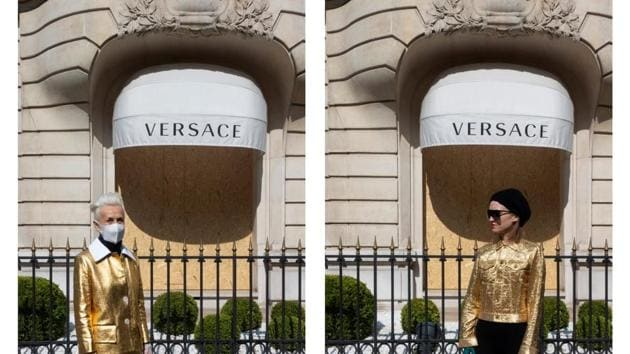 Geneviève and MarieVic at Avenue Montaigne(Photographs by artist MarieVic)