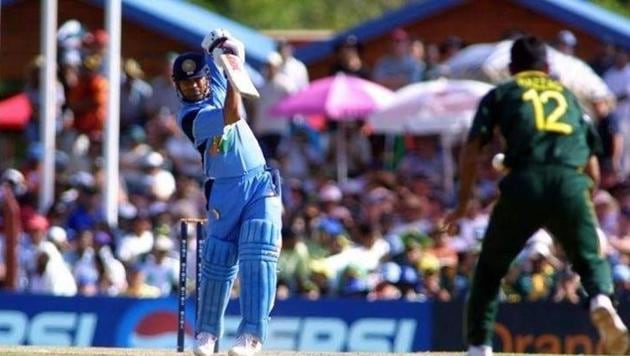 Sachin Tendulkar against Pakistan in 2003 World Cup(Twitter)
