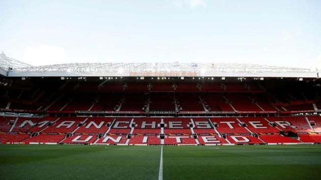 General view inside the Old Trafford stadium, home of Manchester United Football Club.(REUTERS)