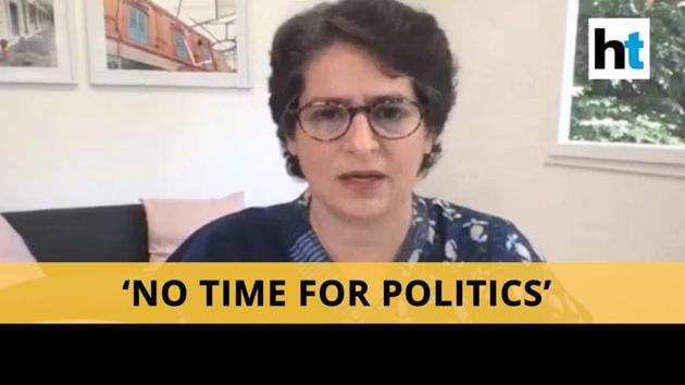"""Congress leader Priyanka Gandhi Vadra on Wednesday targeted the Uttar Pradesh government for not allowing the buses arranged by the party to ferry migrants enter the state. She said that the Yogi Adityath government insisted on producing the papers of the vehicles, and delayed the initiative by wasting time in communication. """"If you had allowed these buses to run, around 72,000 people would have been home by now. But they were engaged in politics. The buses were are standing at the Rajasthan-Uttar Pradesh border since yesterday and are not being of any help,"""" Gandhi said at a digital press conference."""