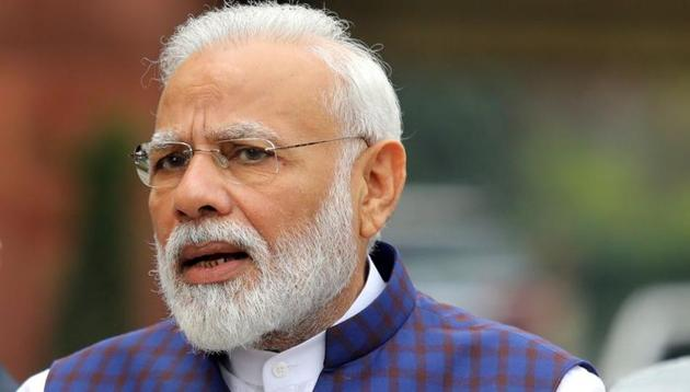 Prime Minister Narendra Modi tweeted about his interaction with the one croreth beneficiary of Ayushman Bharat scheme on Wednesday, May 20, 2020.(Reuters File)