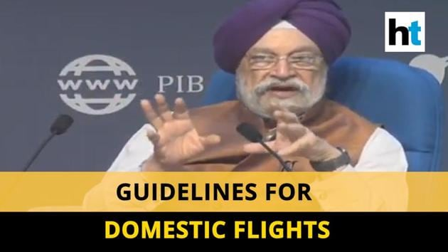 Civil Aviation Minister Hardeep Puri spoke on the guidelines for domestic flights. The government started domestic flights in India from 25 May. Puri said 1/3rd of the flights will be operational for three months. Aviation Ministry also capped airfares. The government also laid down rules for passengers regarding the Aarogya Setu app, cabin luggage, etc. Watch the full video for more details.