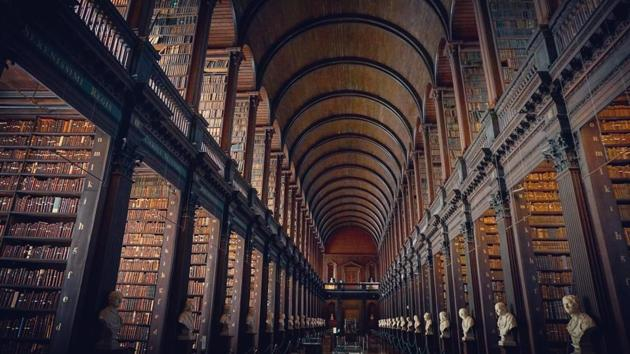 This treasure trove of knowledge figures in the Asia's biggest libraries with a collection of around 900,000 books. (representational image)(Unsplash)