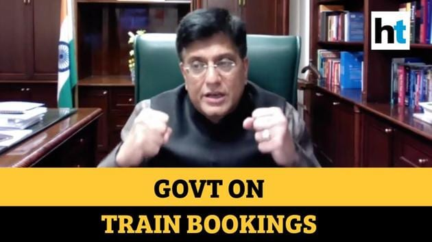 "Railway Minister Piyush Goyal on Thursday said booking of train tickets will resume at around 1.7 lakh common service centres across the country from Friday, making the service accessible to those in remote locations where the availability of computers and internet is negligible or absent. The minister said bookings will also resume at counters at specific railway stations over the next two to three days.""We have to take India towards normalcy. We are developing a protocol to identify the stations where counters can be opened. We have to ensure that there are no large crowds gathering at counters to book tickets, so we are studying the situation and devising a protocol towards it,"" Goyal said."
