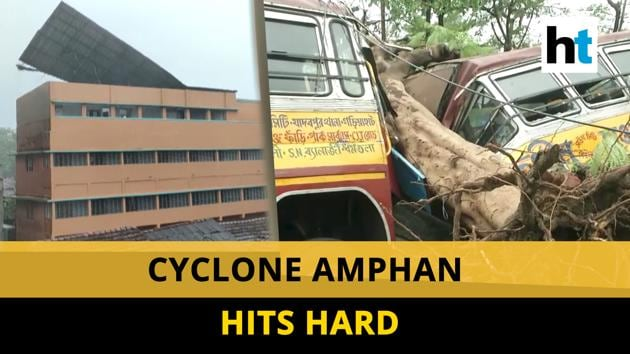 Cyclone Amphan leaves trail of destruction in Odisha and West Bengal. It made a landfall on the coastal region of West Bengal & Odisha on 20 May. At least 12 people have been killed in West Bengal. High velocity winds uprooted trees and electric poles in several areas. Several vehicles were damaged and roads have been blocked. Watch the full video for more.