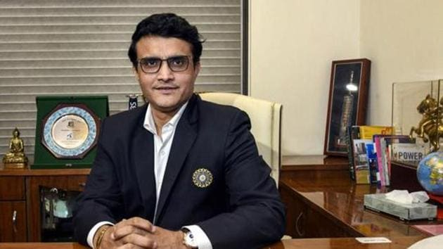 Sourav Ganguly poses for a photograph after taking charge as the new BCCI President at BCCI headquarters.(PTI)